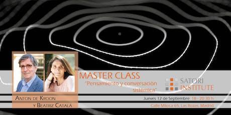 Master class Anton de Kroon sobre Aplicación de la Visión Sistémica  entradas
