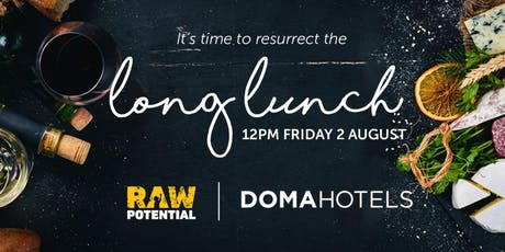 Raw Potential Long Lunch tickets