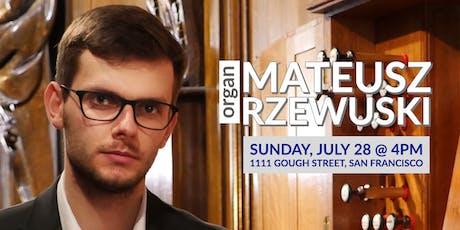 CSM Concerts | Mateusz Rzewuski, organ tickets