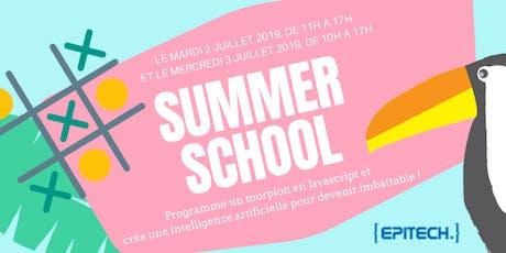 Summer Camp 2019 - Atelier de découverte du code billets