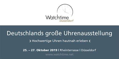 Watchtime Düsseldorf 2019 - Deutschlands große Uhrenausstellung Tickets