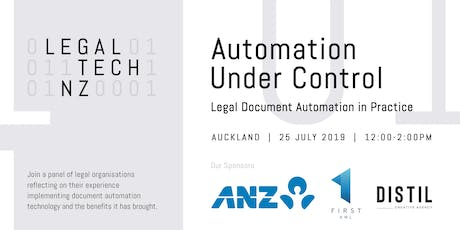 Automation Under Control - LegalTechNZ tickets
