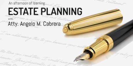 Estate Planning with Atty. Angelo M. Cabrera tickets