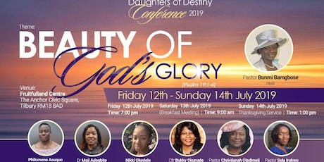 RCCG Fruitfulland Daughters of Destiny Conference 2019 tickets