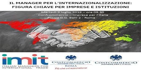 Il manager per l'internazionalizzazione: figura chiave per aziende e istituzioni biglietti