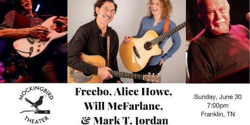 Freebo, Alice Howe, Will McFarlane, & Mark T. Jordan at Mockingbird Theater
