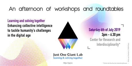 Learning and solving together : workshops and roundtables by JOGL tickets