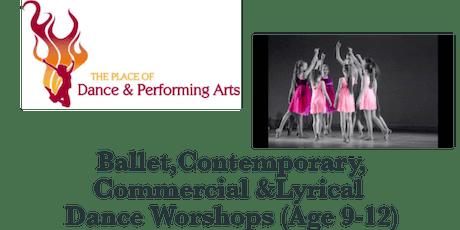TPODPA Summer Dance Workshops (Age 9-12years)  tickets