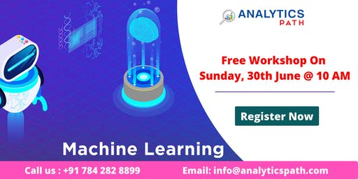 Attend Free Workshop On Machine learning On Sunday, 30th June @ 10 AM