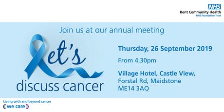 Let's discuss cancer | Our annual meeting tickets