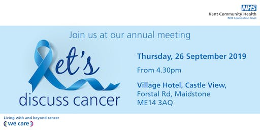 Let's discuss cancer | Our annual meeting