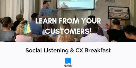 Learn from your customers! - Social Listening & CX Breakfast in Bucharest tickets