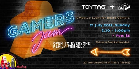 Gamers Jam - Board Gaming Meetup tickets