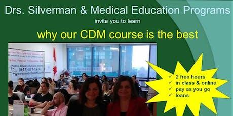 CDM course MCCQE1 CARMS IMG  tickets