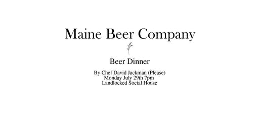 Maine Beer Dinner