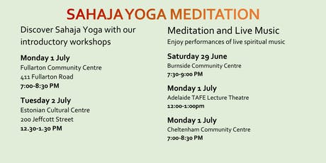 Discover SahajaYoga Meditation ~ Free Workshops & Inspired Music tickets
