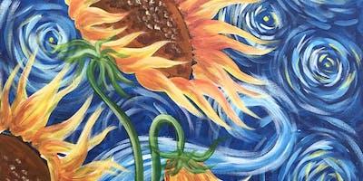 Sunflowers Brush Party - Aylesbury