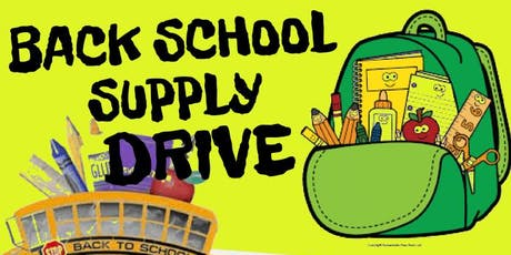 BACK TO SCHOOL BASH/ SCHOOL SUPPLIES GIVEAWAY tickets