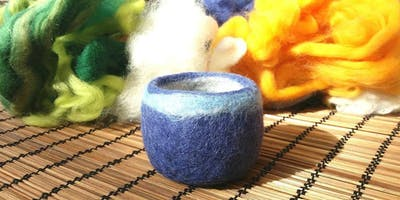 Wet felt making for beginners : Bowls