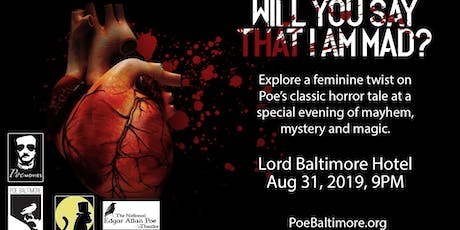 """Will You Say That I Am Mad?"" The case for a feminine twist on E. A. Poe tickets"