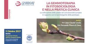 ROMA - LA GEMMOTERAPIA IN FITOSOCIOLOGIA E NELLA...