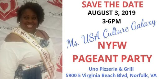 Ms. USA Culture Galaxy NYFW PAGEANT PARTY Fundraiser