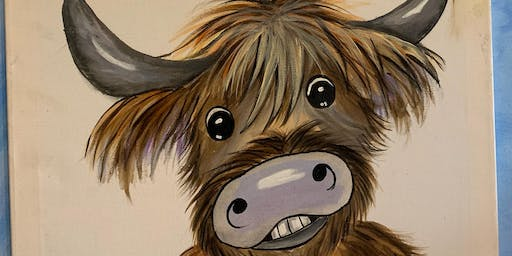 Adult Evening paint a coo Murton by Forfar