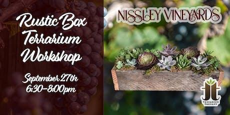 Rustic Succulent Box Workshop at Nissley Vineyard tickets