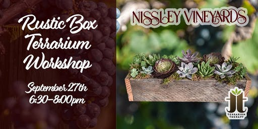 Rustic Succulent Box Workshop at Nissley Vineyard