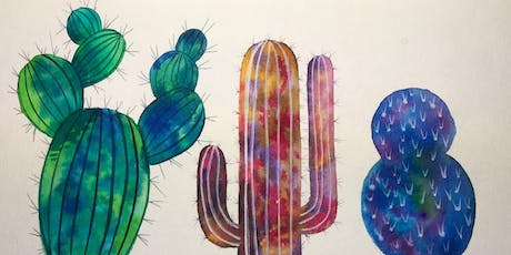 Painting Cacti with Watercolor 3 Different Ways tickets