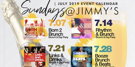 Sunday 2hr Open Bar Brunch & Day Party, Bdays Celebrate Free, Live Music tickets