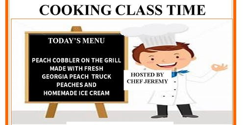 Cooking with Chef Jeremy Peach Cobbler and Homemade Ice Cream