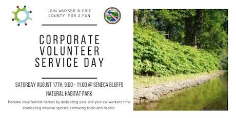 WNYSBR Corporate Volunteer Service Day @ Seneca Bluffs Natural Habitat Park tickets