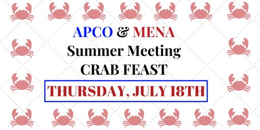 APCO/MENA SUMMER MEETING/TRAINING/ELECTION & CRAB FEAST