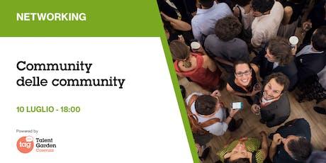 Community delle community biglietti