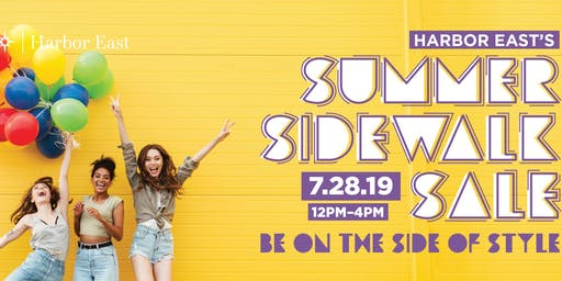 Harbor East Summer Sidewalk Sale 2019