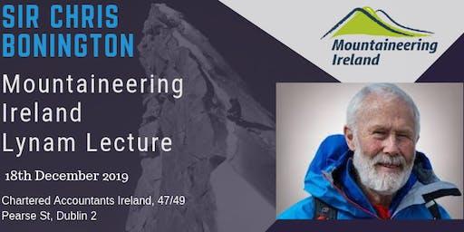Mountaineering Ireland Lynam Lecture - Sir Chris Bonington
