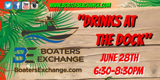 Boaters Exchange Drinks at the Dock New Smyrna Beach 6/28/19