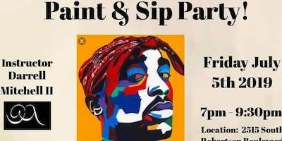 Paint & Sip Party (Tupac Portrait)