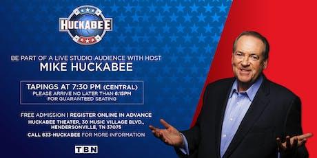 Huckabee - Wednesday, August 7 tickets
