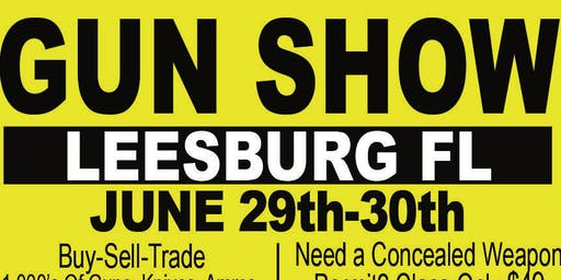 LEESBURG Gun Show June 29th-30th, 2019 at the National Guard Armory Concealed Class $49