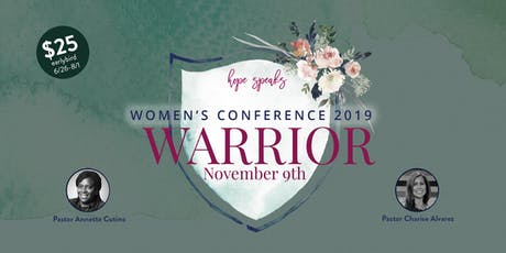 Hope Speaks Women's Conference 2019- Warrior tickets