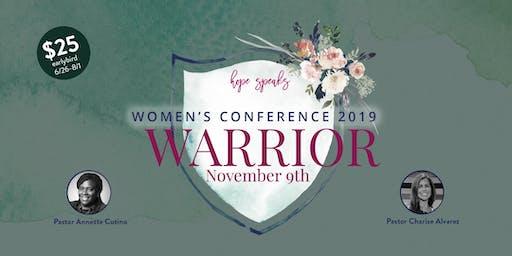 Hope Speaks Women's Conference 2019- Warrior