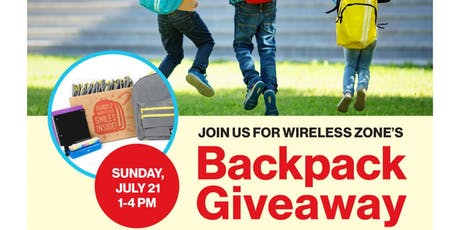 Monroe Verizon Wireless Backpack Give Away  tickets