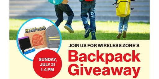 Monroe Verizon Wireless Backpack Give Away