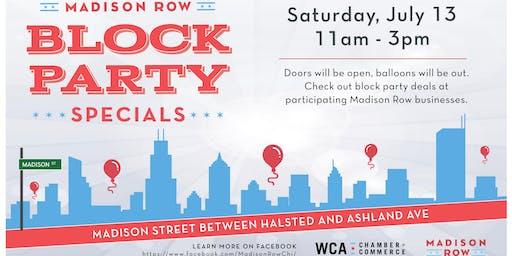 Madison Row Block Party Specials