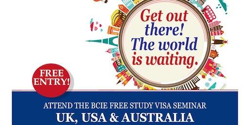 BCIE Free Visa Advice Seminar - Study in the UK, USA and Australia
