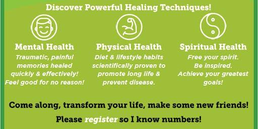 FREE Information Seminar on Mental, Physical, & Spiritual Healing