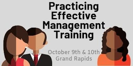 Practicing Effective Management Training tickets