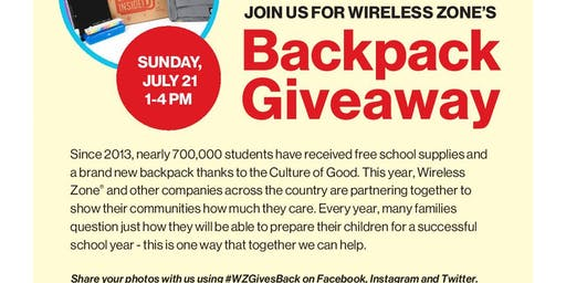 Patterson Wireless Zone Backpack Event